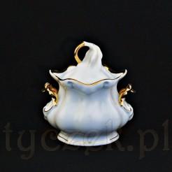 Ekskluzywna porcelanowa cukiernica w manierze baroku
