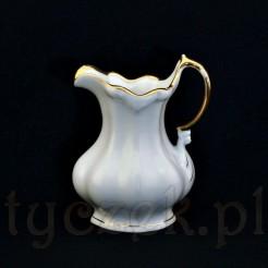 Markowy mlecznik w barokowej formie z porcelany śląskiej