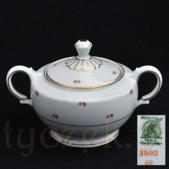 Porcelanowa cukiernica Sygnowana Bohemia