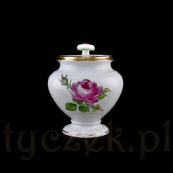 Ekskluzywna cukiernica Meissen - wyjątkowa forma bez bocznych uchwytów