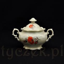 Cukiernica z różanej kolekcji bawarskiej porcelany Schumann