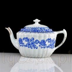 Dzbanek do herbaty z markowej porcelany ze wzorem China Blau