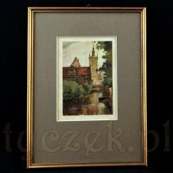 Gdańsk na starej grafice z lat trzydziestych XX wieku.
