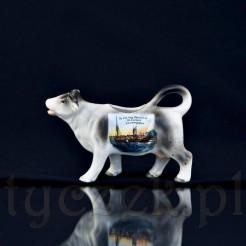 Figuralny mlecznik krowa z widokiem Gruss aus Ostseebad Dievenow Landungsplatz