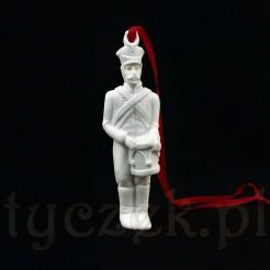 Porcelanowy dobosz na choinkę