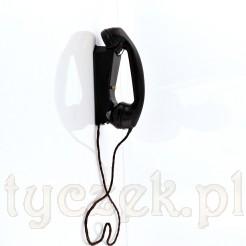 Stylowy domofon natynkowy w czarnym bakelicie