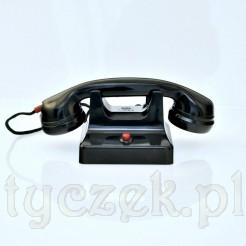 Stylowy ebonitowy telefon domowy - domofon z lat 50'tych XX wieku