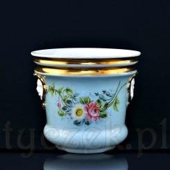 Pałacowa doniczka porcelanowa w pięknym wykonaniu