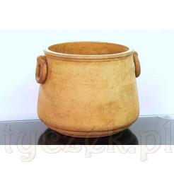 Ceramiczna donica sygnowana znakiem