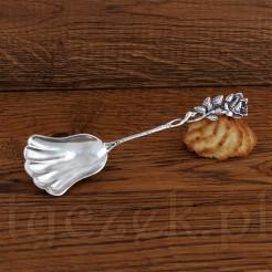 Cudna łyżka do cukru z prawdziwego srebra