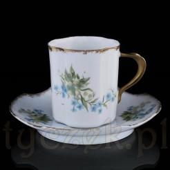 Piękne francuskie duo z cienkościennej porcelany.