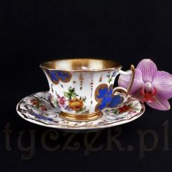 Luksusowe i zabytkowe duo porcelanowe FAS