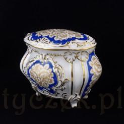 Ekskluzywna i duża bomboniera w formie szkatuły z porcelany ROSENTHAL