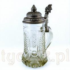 Kufel szklany z XIX wieku