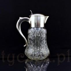 Oryginalny dzban- karafka chłodząca z kryształowego szkła