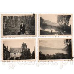 Zdjęcia plenerowe, szpital Św. Ducha oraz jezioro położone w malowniczych górach