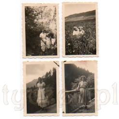 Zdjęcia plenerowe dwóch młodych dziewcząt oraz dwóch kobiet
