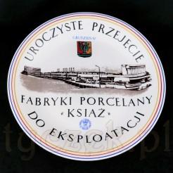 Okolicznościowy talerz porcelanowy z Fabryki Porcelany Książ.