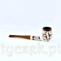 Wyjątkowa fajka okuta srebrem z motywem gry w golfa