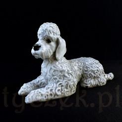 Porcelanowa figurka psa rasy pudel