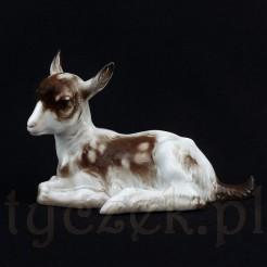 Porcelanowa figurka kozy
