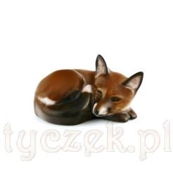 Figurka leżącego lisa