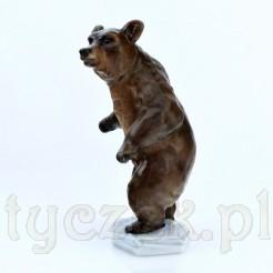 Niedźwiedź stojący z porcelany Rosenthal - cenna figurka