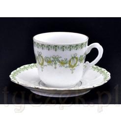 znakomite filiżanki z XIX wieku - stara porcelana
