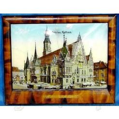 Souvenir z Breslau - pamiątkowy obrazek z widokiem ratusza