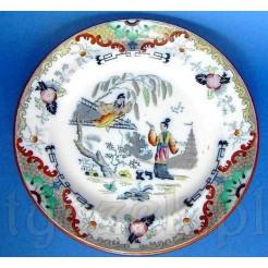 Zabytkowy talerz dekoracyjny z motywem orientalnym