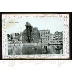 Widok kartki pocztowej przedstawiającej Gdańsk.