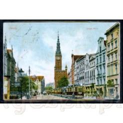 Widok kartki pocztowej przedstawiającej Langer Markt