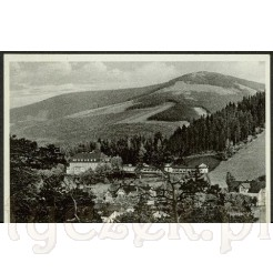 Widok pocztówki przedstawiającej sanatorium w Karpaczu