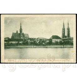 Widok kartki pocztowej z Wrocławia