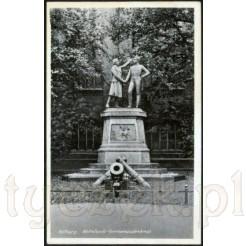 Widok kartki przedstawiającej pomnik w Kolberg
