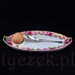 Tacka Rosenthal na jajko motyw różany