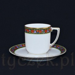 Elegancki komplet idealnie posłuży do małej mocnej kawy typu mokka