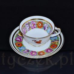 Uroczy komplet do mokki z białej, szlachetnej porcelany marki Rosenthal