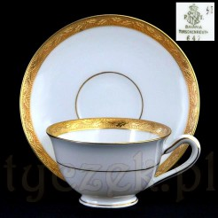 Inkrustowana złotem porcelana marki Tirschenreuth Bavaria