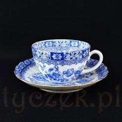 Porcelanowa filiżanka China Blau