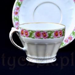 Wyjątkowa filiżanka z prześwitującej porcelany Wałbrzych marki CT