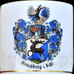 Malowany Herb Hirschberg na znakomitej filiżance