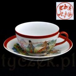 Kolekcjonerska filiżanka do herbaty z dekorowanej porcelany