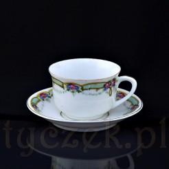 komplet kawowy ze śląskiej porcelany
