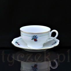 Zestaw kawowy dekorowany kolorowym motywem florystycznym