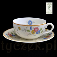 Śląska filiżanka z kremowe porcelany Echt Tuppack Nr 2