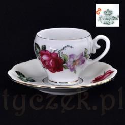 Kolekcjonerska filiżanka ze śląskiej porcelany koenigszelt