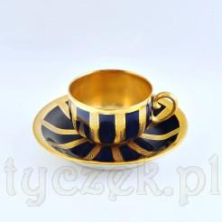 Francuska porcelanowa filiżaneczka ze złoceniami
