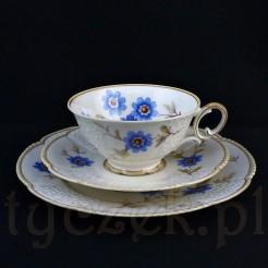 Przepiękne porcelanowe trio do kawy lub herbaty