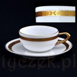 Znakomita filiżanka porcelanowa marki Lettin z okresu Art Deco
